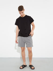 Cropped Sweatshort in Heather Grey by Oak OOS