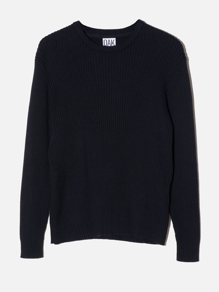 Oak Mercer Sweater in Black in Black by Oak