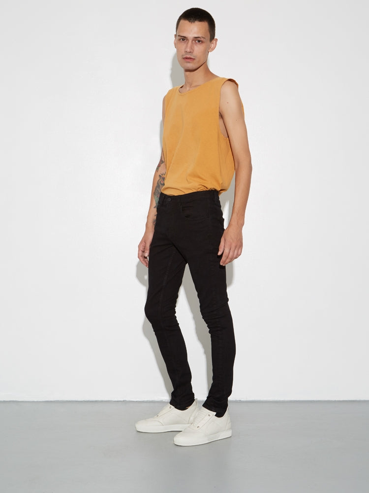 Mid Skinny Jean in Black by OAK
