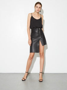 Moto Skirt in Black by Oak