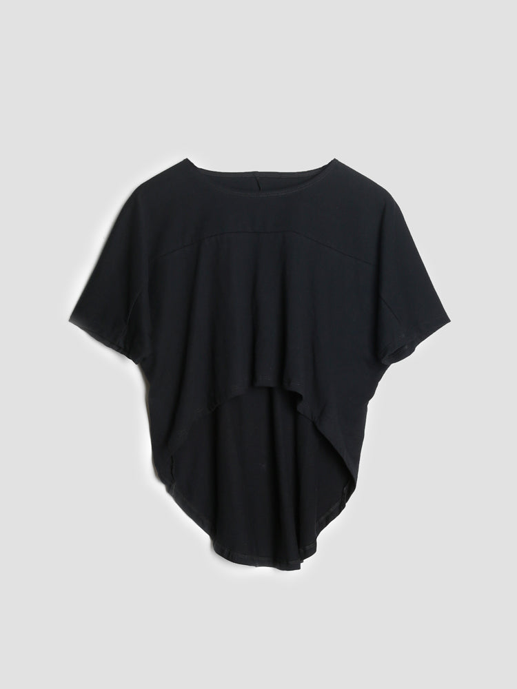 Load image into Gallery viewer, Oak Drape Panel Tee in Black