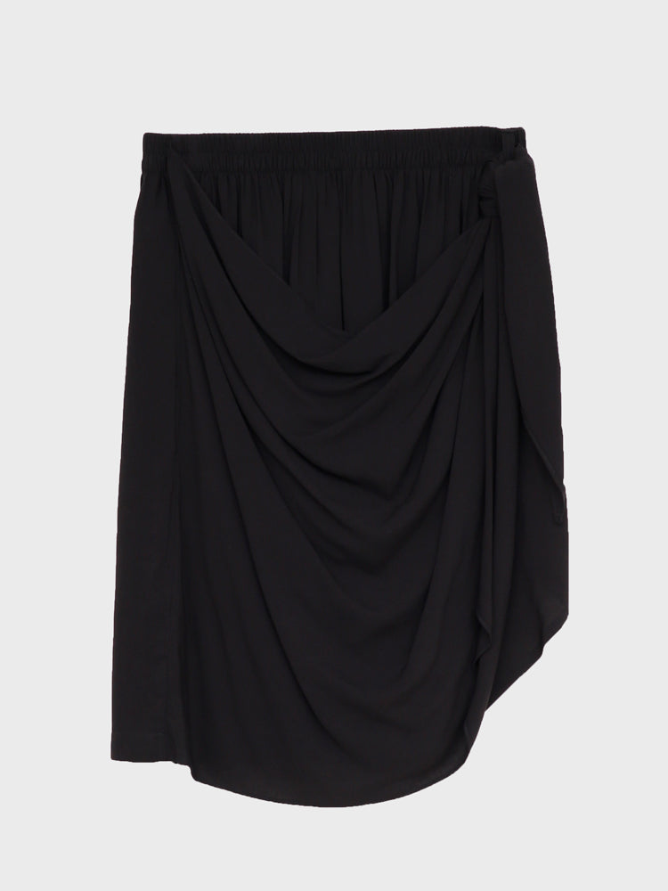 Load image into Gallery viewer, Oak Side Panel Skirt in Rayon Challis