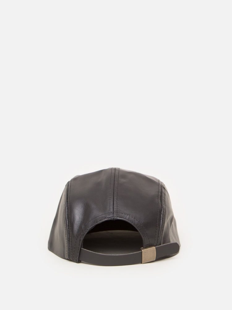 Load image into Gallery viewer, Oak Leather 5 Panel Hat in Black
