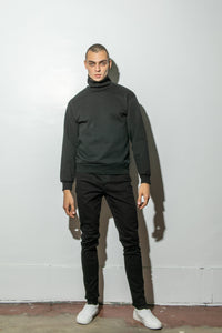 Oak Standard Turtleneck Sweatshirt in Black by Oak OOS