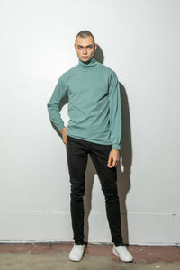 Hawthorne Turtleneck in Atlantic Green by Oak in Atlantic Green by Oak
