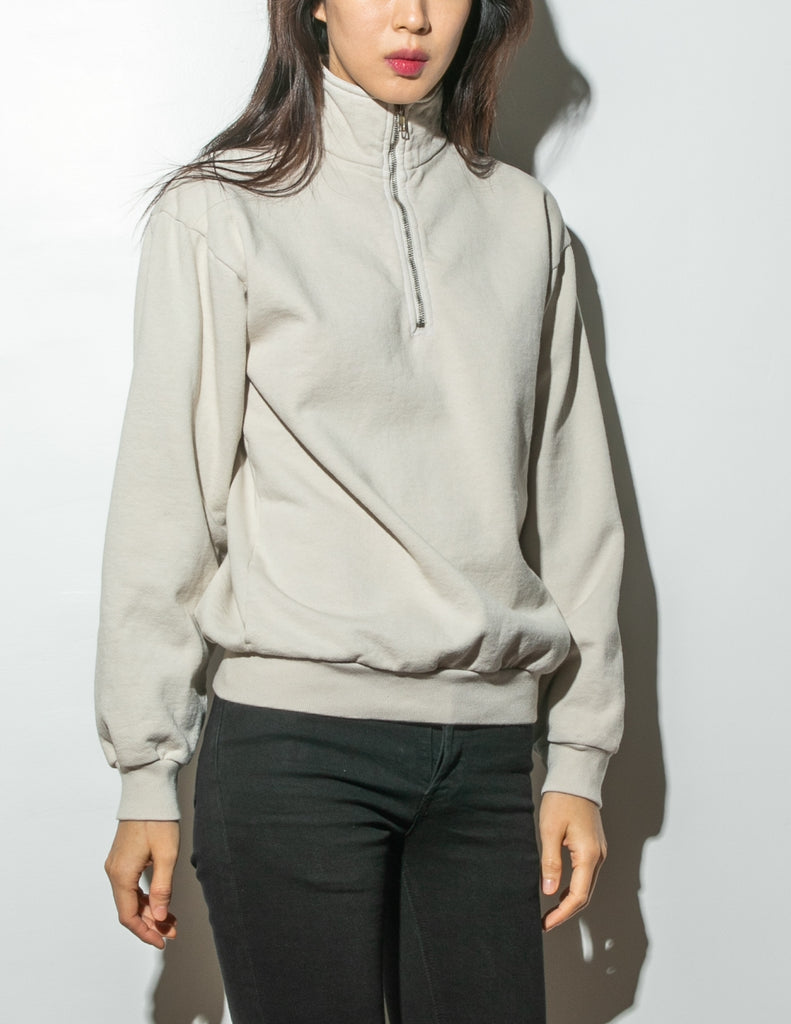Oak Half Zip Pullover in Cement in Cement by Oak