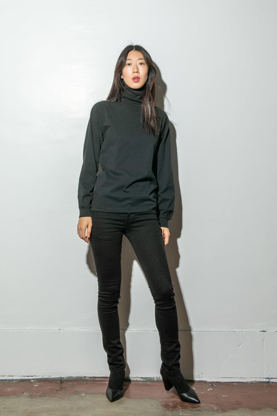 Hawthorne Turtleneck in Black by Oak