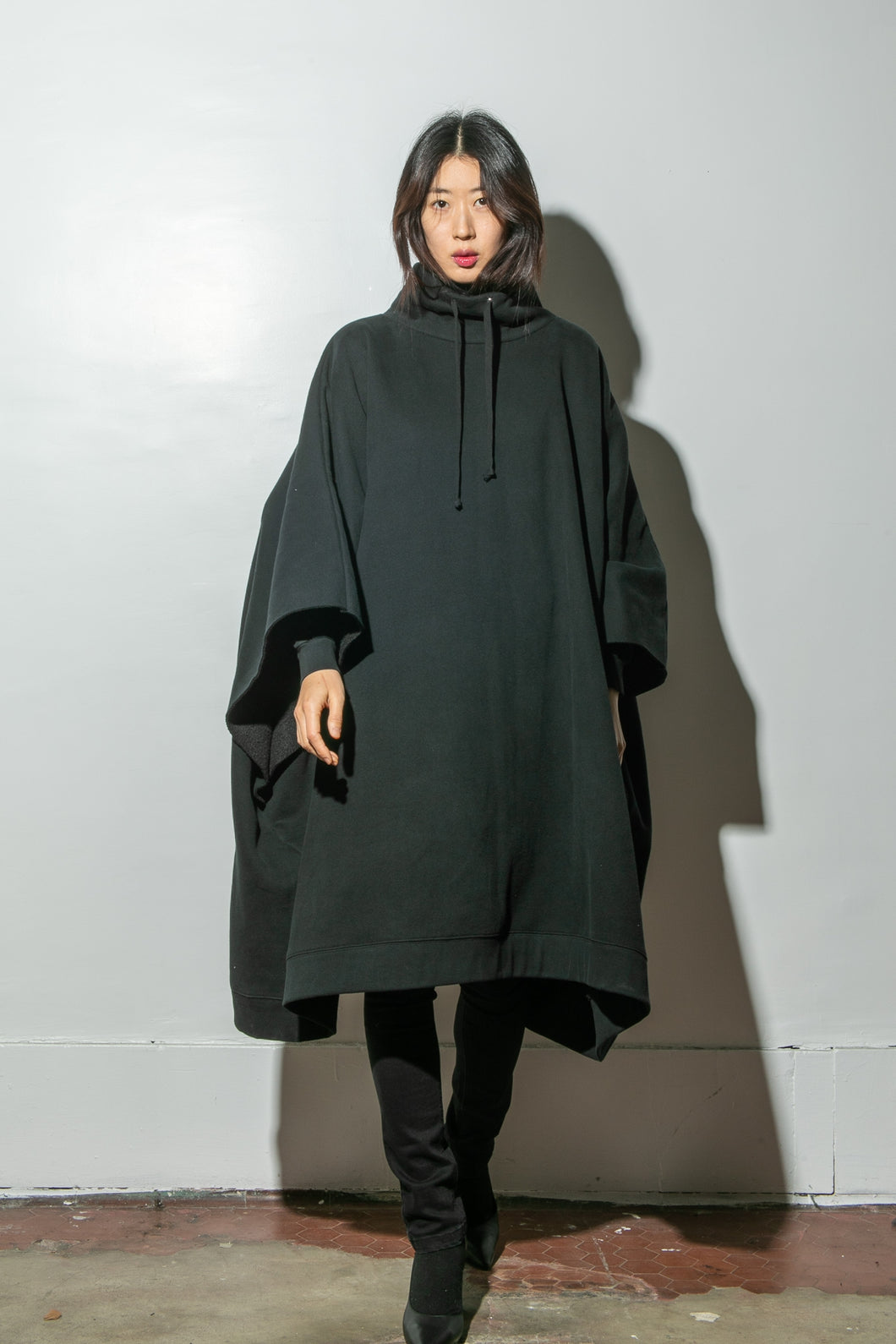 Wayne Poncho in Black by OAK