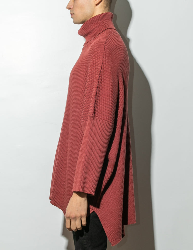 Load image into Gallery viewer, Oak Massive Turtleneck Sweater in Burnt Orange