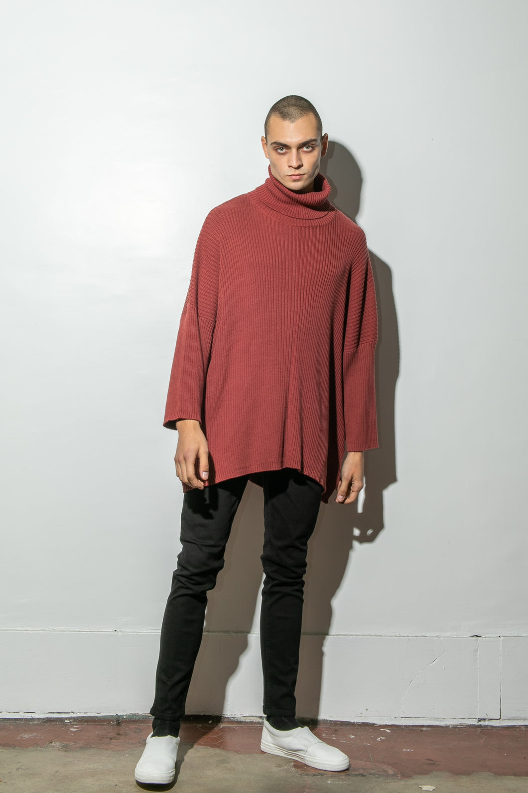 Oak Massive Turtleneck Sweater in Burnt Orange