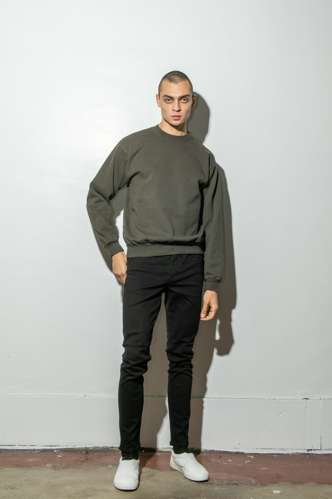 Oak Standard Crew Sweatshirt in Fatigue