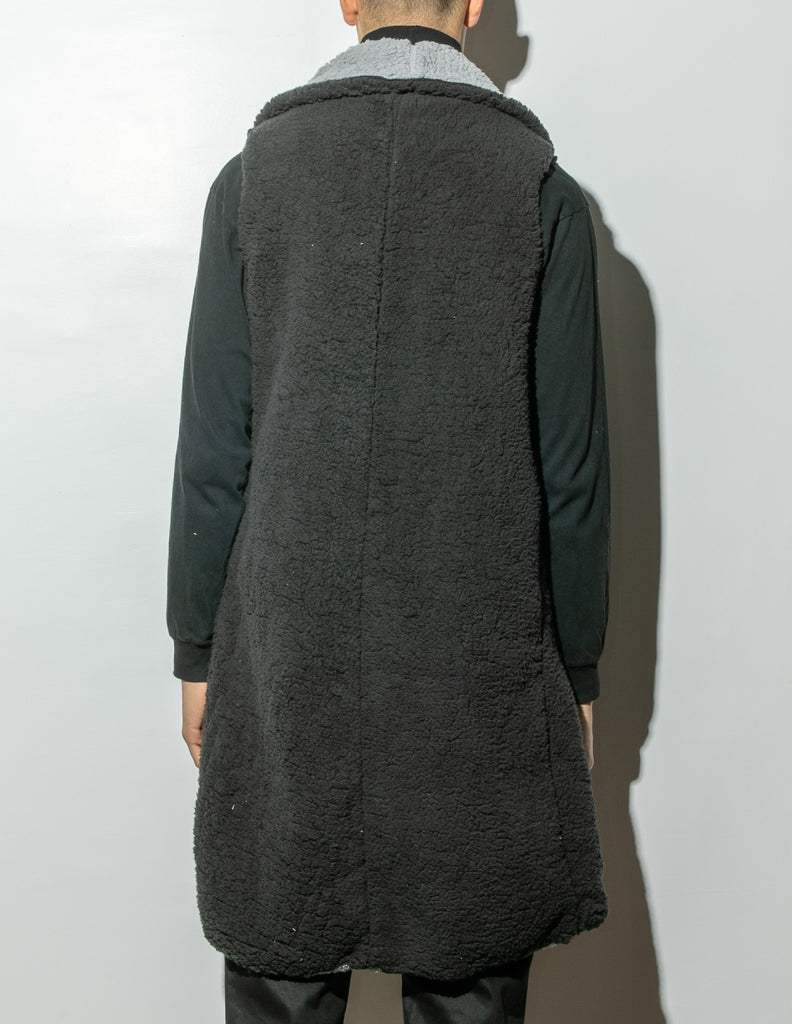 Load image into Gallery viewer, A/OK Reversible Faux Shearling Cardigan in Black