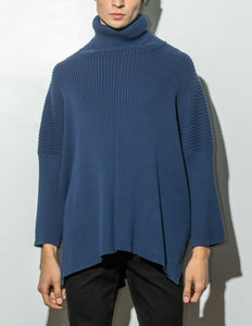 Oak Massive Turtleneck Sweater in Midnight in Midnight by Oak