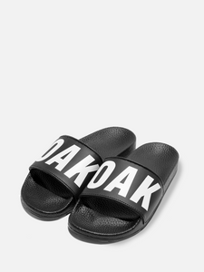 Oak Logo Slide in Black/White in Black/White by Oak