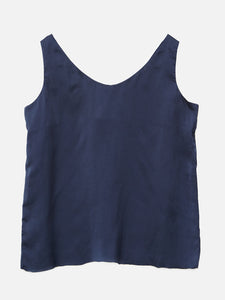 Oak V Neck Tank in River in River by Oak OOS