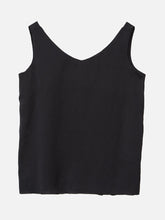 Load image into Gallery viewer, Oak V Neck Tank in Black