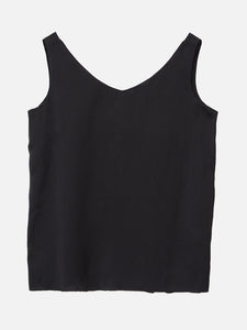 Oak V Neck Tank in Black in Black by Oak