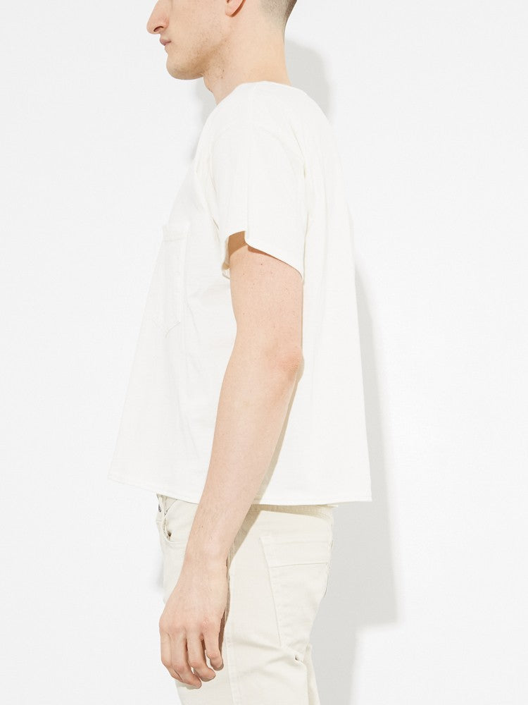 Oak Slouch Pocket Tee in Bone in Bone by Oak