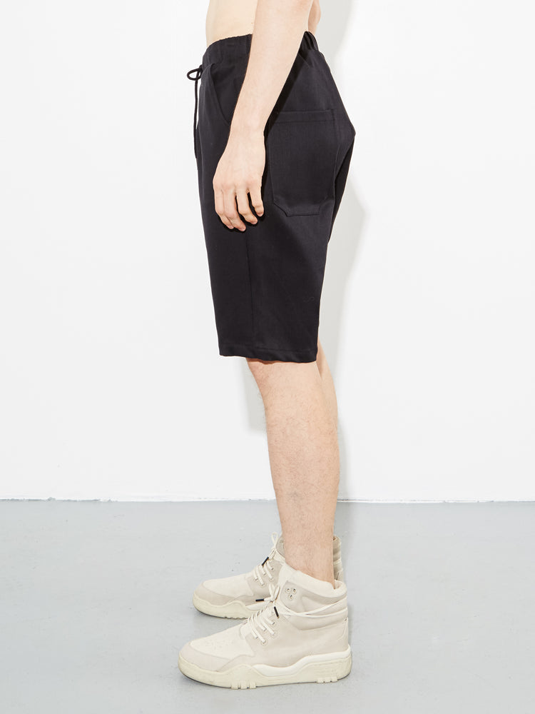Load image into Gallery viewer, Angelino Short in Black Cotton Twill by OAK