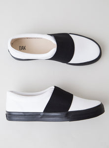 Clay Sneaker in White & Black by Oak in White & Black by Oak