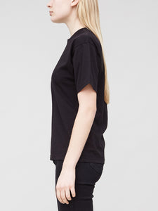Oak Mock Neck Tee in Black in Black by Oak