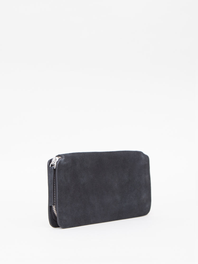 Oak Stagg Large Wallet in Black Suede in Black Suede by Oak