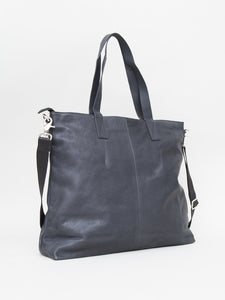 The Leonard Tote in Leather by OAK  in Black by Oak