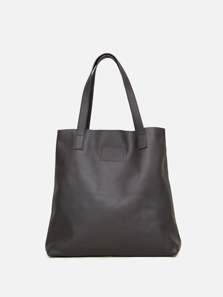 Load image into Gallery viewer, Oak Monitor Tote in Black Leather