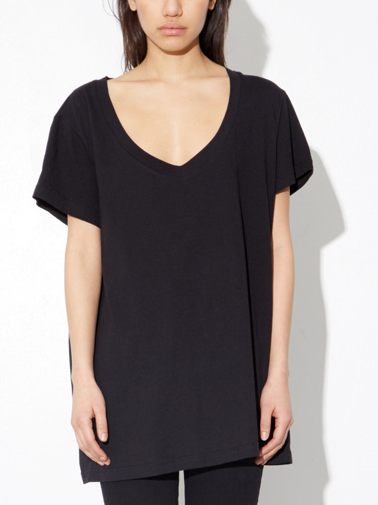 Oak Oversize V Tee In Black in Black by Oak