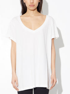 Oak Oversize V Tee in Chalk in Chalk by Oak OOS
