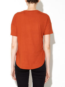 Putnam Tee in Rust by Oak OOS