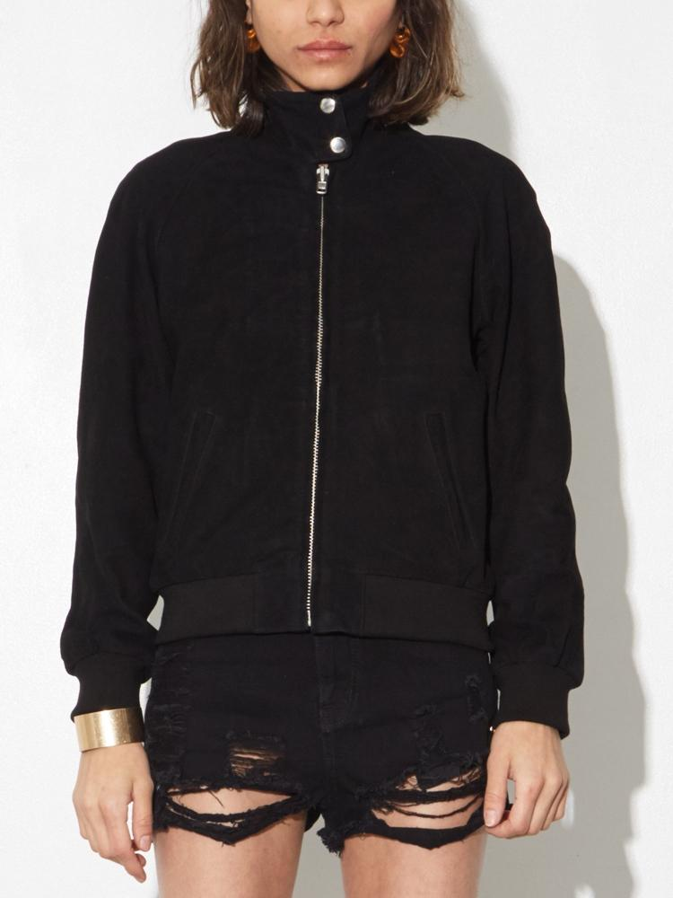LA Suede Render Jacket in Black by Oak