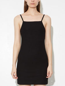 Rib Tank Dress in Black by Oak