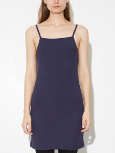 Rib Tank Dress in Midnight by Oak