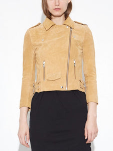 NY Suede Rider Jacket in Camel by Oak