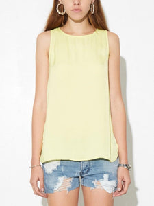 Satin Tank in Canary by A/OK OOS