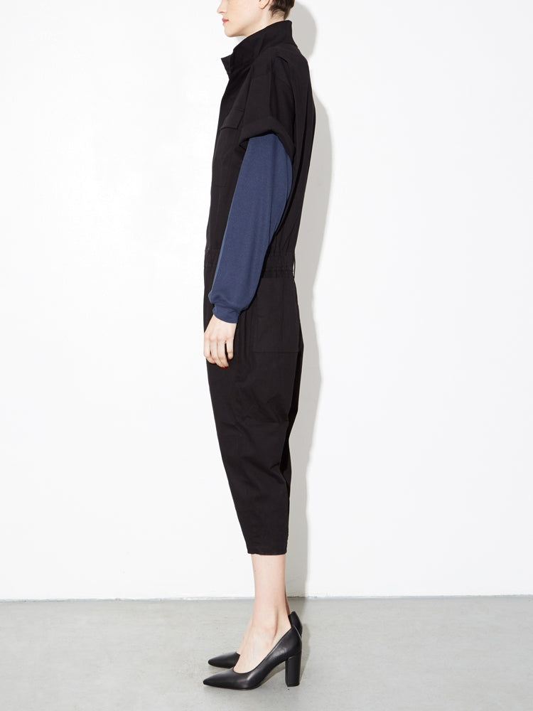 Load image into Gallery viewer, Oak Seigel Jumpsuit in Black