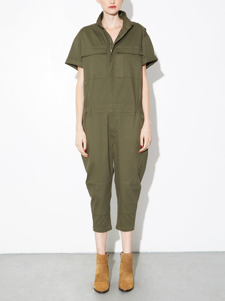 Load image into Gallery viewer, Oak Seigel Jumpsuit in Fatigue