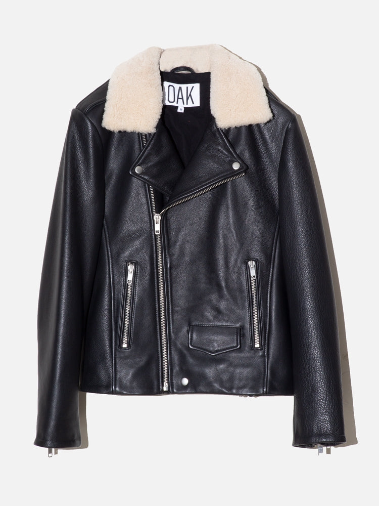 Load image into Gallery viewer, NY Sherpa Rebel Jacket in Black by OAK