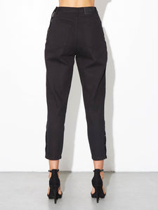 Oak Side Zip Baggy Jean in Black in Black by Oak