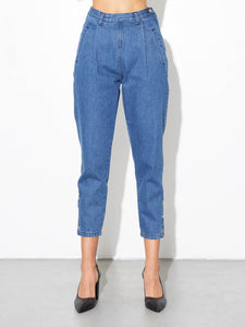 Oak Side Zip Baggy Jean in Indigo in Indigo by Oak