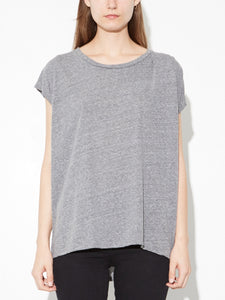 Oak Side Pleat Box Tee in Heather Grey in Heather Grey by Oak OOS