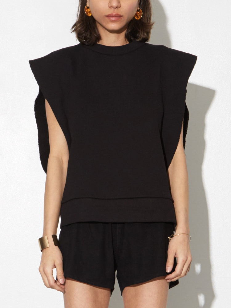 Sideless Pullover in Black by OAK in Black by Oak