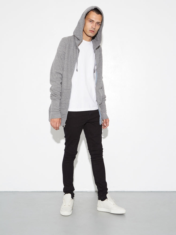 Oak Slouch Hoodiein Heather Grey