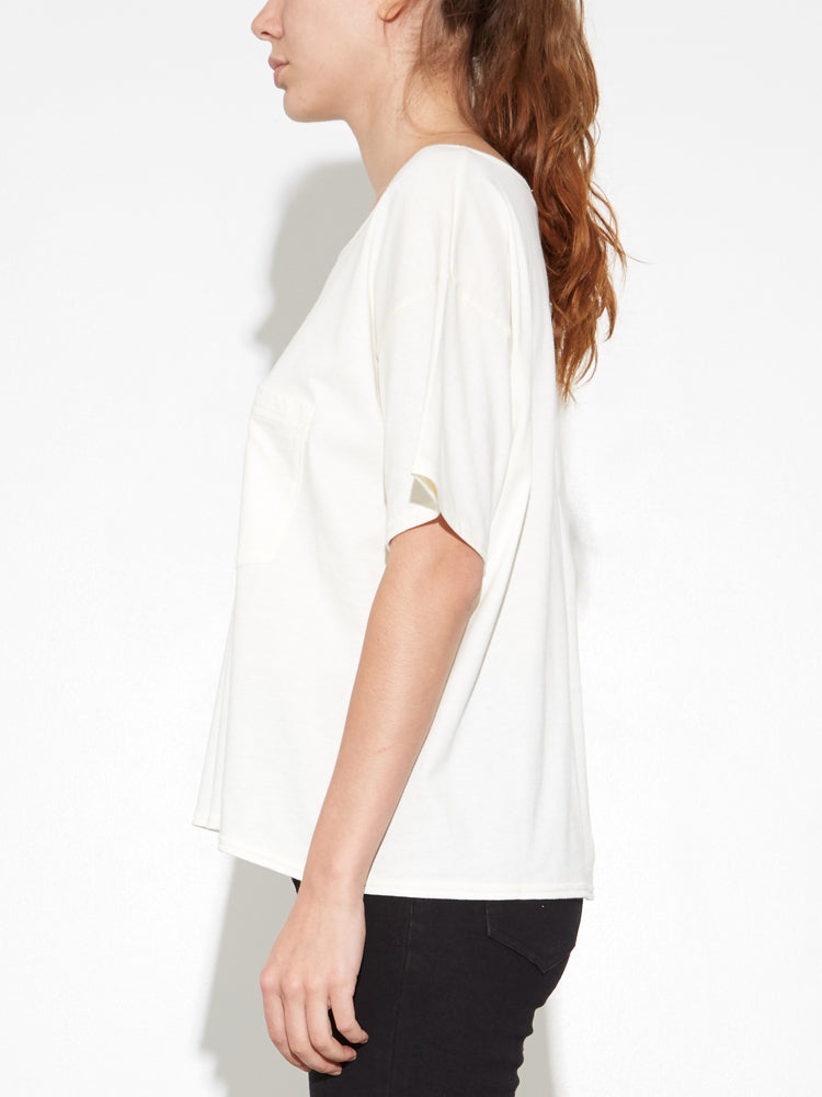 Load image into Gallery viewer, Oak Slouch Pocket Tee in Bone