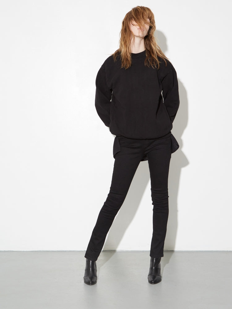 Oak Standard Crew Sweatshirt in Black