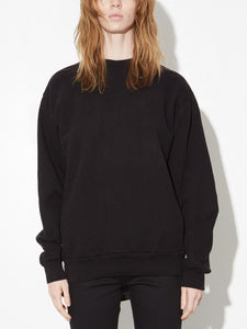 Oak Standard Crew Sweatshirt in Black in Black by Oak