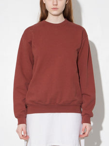 Oak Standard Crew Sweatshirt in Burnt Orange in Burnt Orange by Oak OOS