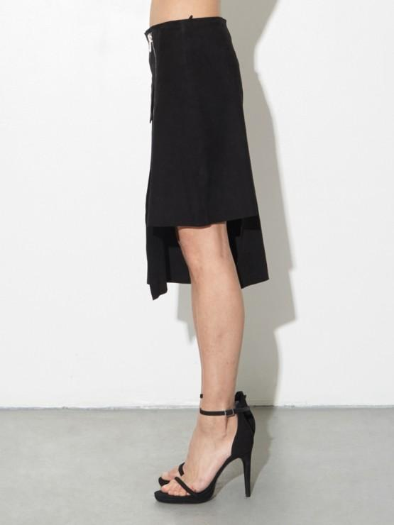 Load image into Gallery viewer, LA Suede Moto Skirt