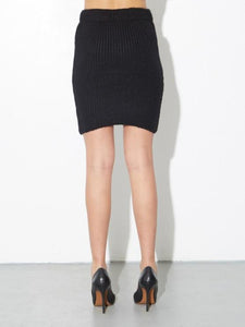 Sweater Skirt in Black by A/OK